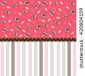 seamless pattern  floral...   Shutterstock .eps vector #420804109