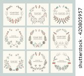 collection of floral wreath ... | Shutterstock .eps vector #420805957
