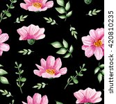 seamless floral pattern with... | Shutterstock . vector #420810235