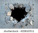 3d render  explosion  broken... | Shutterstock . vector #420810511