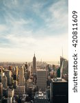 new york city skyline with... | Shutterstock . vector #420811609