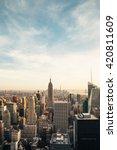 new york city skyline with... | Shutterstock . vector #420811609