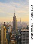 new york city skyline with... | Shutterstock . vector #420811615