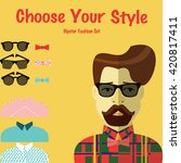 hipster fashion set vector.  | Shutterstock .eps vector #420817411