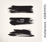 black ink stroke. set of grunge ... | Shutterstock .eps vector #420819451