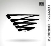 brush stroke and texture.... | Shutterstock .eps vector #420822865