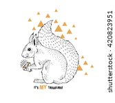 squirrel with diamond ... | Shutterstock .eps vector #420823951