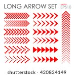 long arrow icon set  vector eps ... | Shutterstock .eps vector #420824149