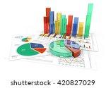 analyze. financial documents... | Shutterstock . vector #420827029
