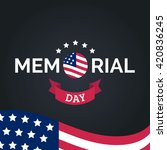 vector happy memorial day card. ... | Shutterstock .eps vector #420836245