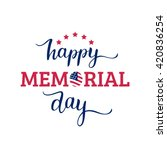 vector happy memorial day card. ... | Shutterstock .eps vector #420836254
