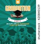 graduation party mortarboard... | Shutterstock .eps vector #420840139