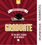 graduation mortarboard and... | Shutterstock .eps vector #420840151