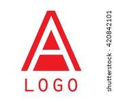 logo a letter. isolated on... | Shutterstock .eps vector #420842101