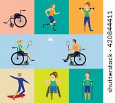 disabled  sport games . figure... | Shutterstock .eps vector #420844411