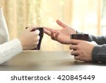 Back Light Profile Of Hands Of...