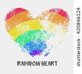 conceptual logo with... | Shutterstock .eps vector #420846124