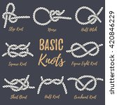 set of 8 most used nautical... | Shutterstock .eps vector #420846229