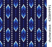 colorful aztec seamless pattern.... | Shutterstock .eps vector #420849991