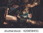 professional tattoo artist...   Shutterstock . vector #420858451