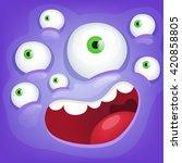 cartoon monster face   Shutterstock .eps vector #420858805