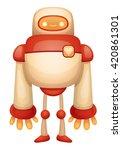 cute cartoon robot | Shutterstock .eps vector #420861301