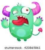cartoon cute monster | Shutterstock .eps vector #420865861