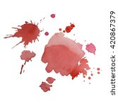 Bright Watercolor Spot With...