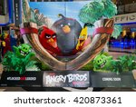 Small photo of PUTRAJAYA, MALAYSIA - MAY 15, 2016: A wall sized Angry Bird poster displayed at IOI Putrajaya Mall. The Angry Birds Movie is a 3D computer-animated action adventure comedy film based on the video game