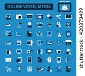 online video  media icons | Shutterstock .eps vector #420873499