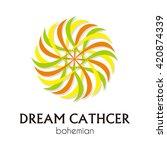 dream catcher round geometric... | Shutterstock .eps vector #420874339