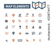 map elements icons  | Shutterstock .eps vector #420874477