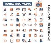 marketing media icons    Shutterstock .eps vector #420874495