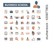 business school icons | Shutterstock .eps vector #420877801