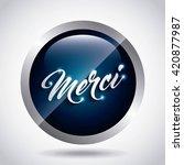 words of thanks design  | Shutterstock .eps vector #420877987