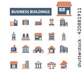 business buildings icons | Shutterstock .eps vector #420881911