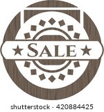 sale wood emblem. retro | Shutterstock .eps vector #420884425