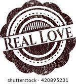 real love rubber grunge stamp