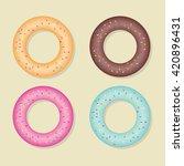 donut | Shutterstock .eps vector #420896431