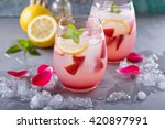 Strawberry Lemonade With Rose...