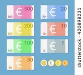 Euro Banknotes. Euro Money...