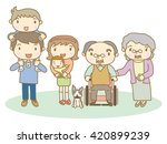 3 generation family | Shutterstock .eps vector #420899239