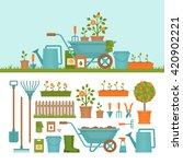concept of gardening. garden...   Shutterstock .eps vector #420902221