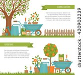 concept of gardening. garden... | Shutterstock .eps vector #420902239