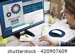 software update installation... | Shutterstock . vector #420907609