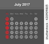 template of calendar for july... | Shutterstock .eps vector #420909805
