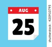 calendar icon flat august 25