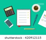 work desk vector illustration... | Shutterstock .eps vector #420912115