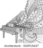 doodles design of piano for... | Shutterstock .eps vector #420915637