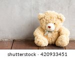 teddy bear doll sit at wall... | Shutterstock . vector #420933451
